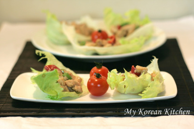 Stir Fried Chicken Wrapped with Iceberg Lettuce1