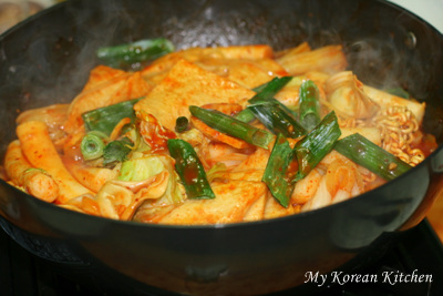 Sugar High, Stir Fried Rice Cake and Noodle (Rabokki in Korean)