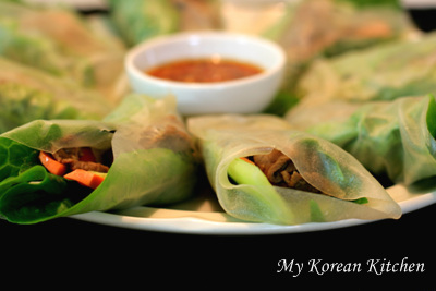 Bulgogi Wrapped in Rice Paper 2