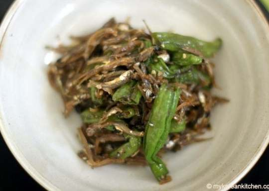 Shishito Peppers and dried anchovies 1