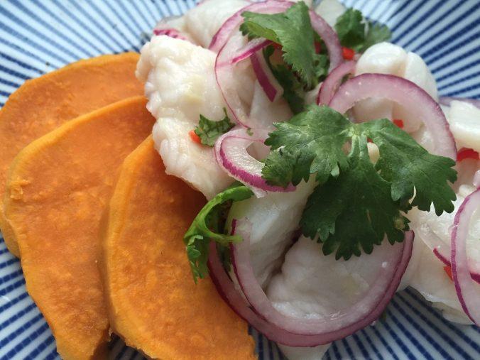 Ceviche mit Süßkartoffel