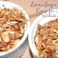 Lower Sugar Apple Crisp for Two