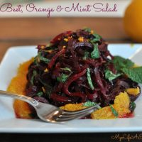 Roasted Beet Salad with Oranges and Mint