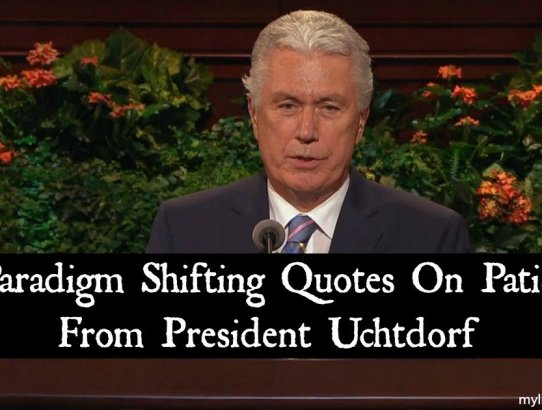 One of the common themes of President Dieter F. Uchtdorf's sermons has been happiness and patience, he teaches us how and why we should develop patience.