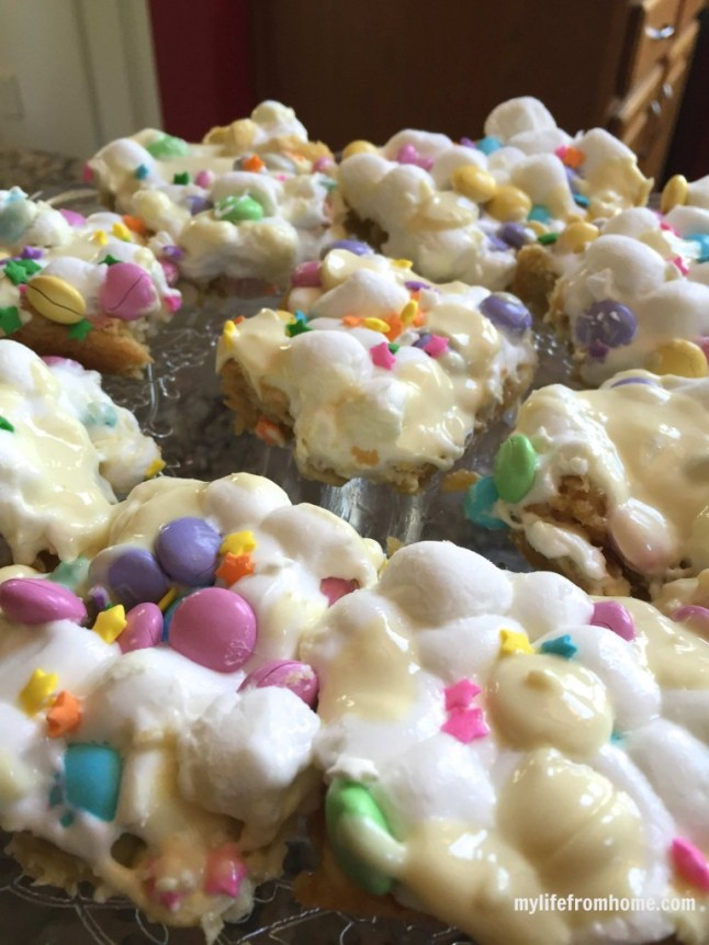 Easter Cookie Bars, shared by My Life from Home at The Chicken Chick's Clever Chicks Blog Hop