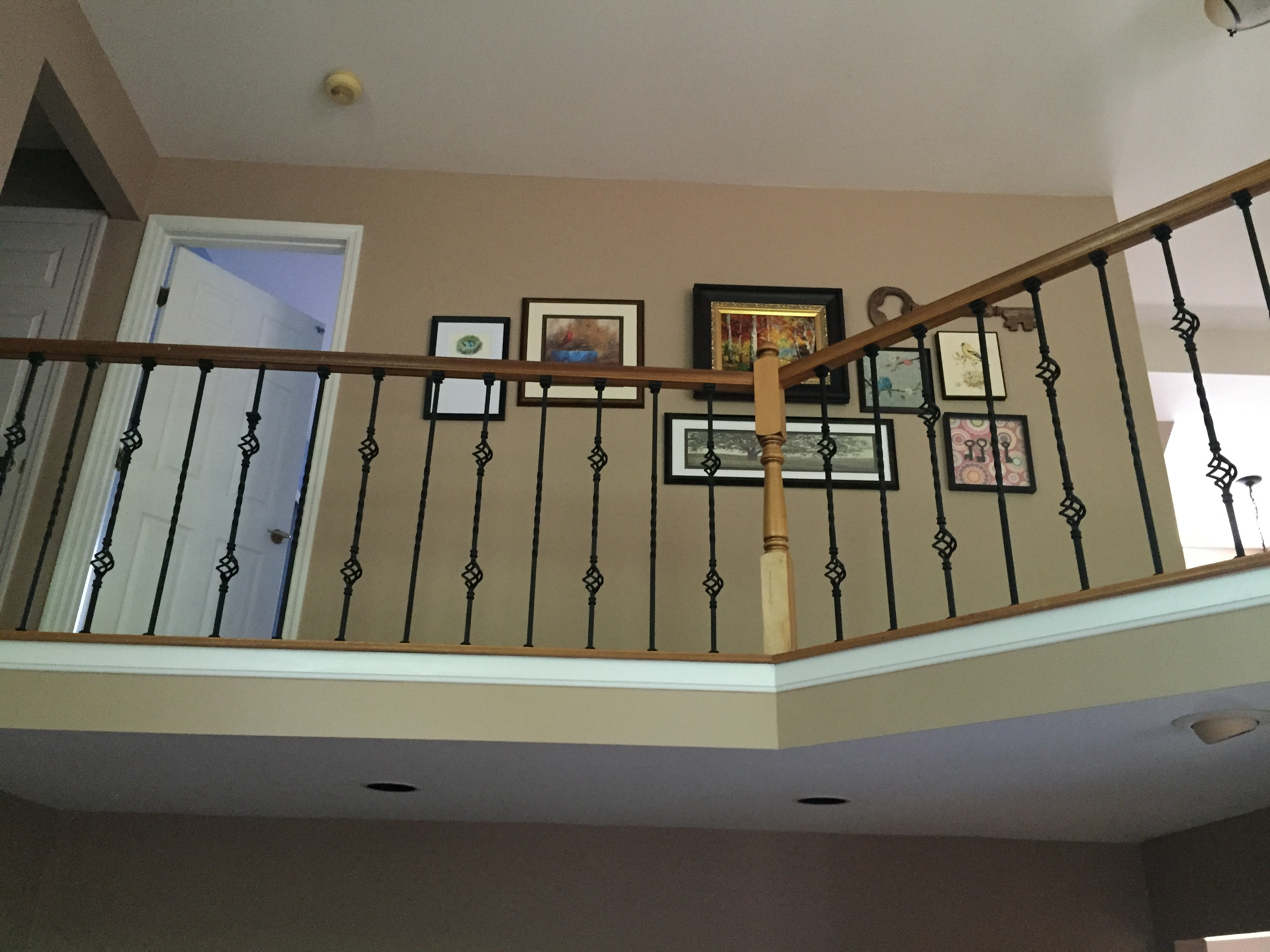 diy railings adding wrought iron spindles my life from home
