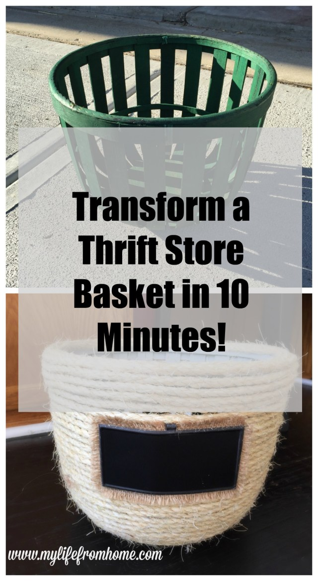 Transform a Thrift Store Basket in 10 Minutes by www.mylifefromhome.com