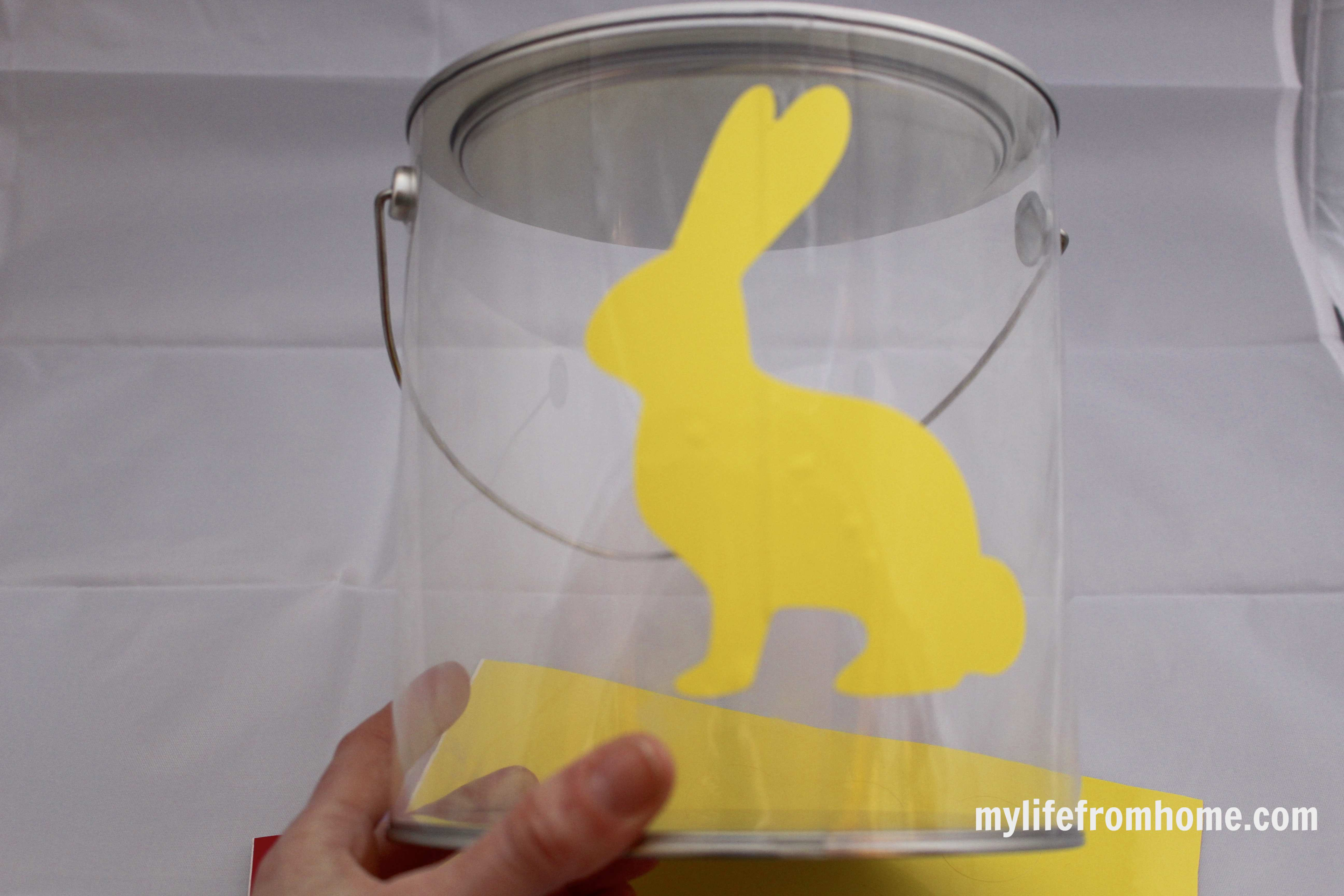Easter Egg Hunt Pail & Printable by www.mylifefromhome.com