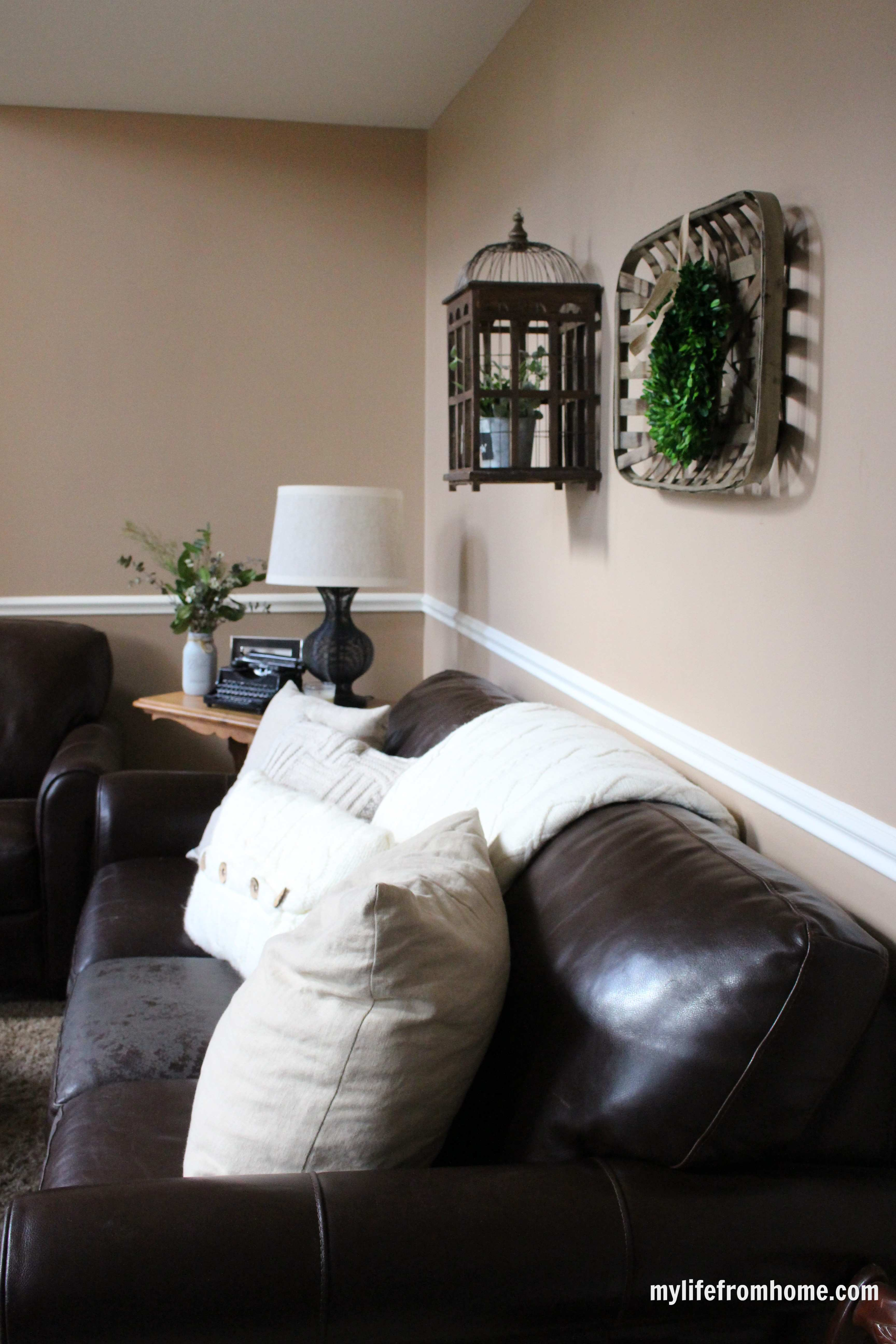 Family Room for Spring Home Tour by www.mylifefromhome.com