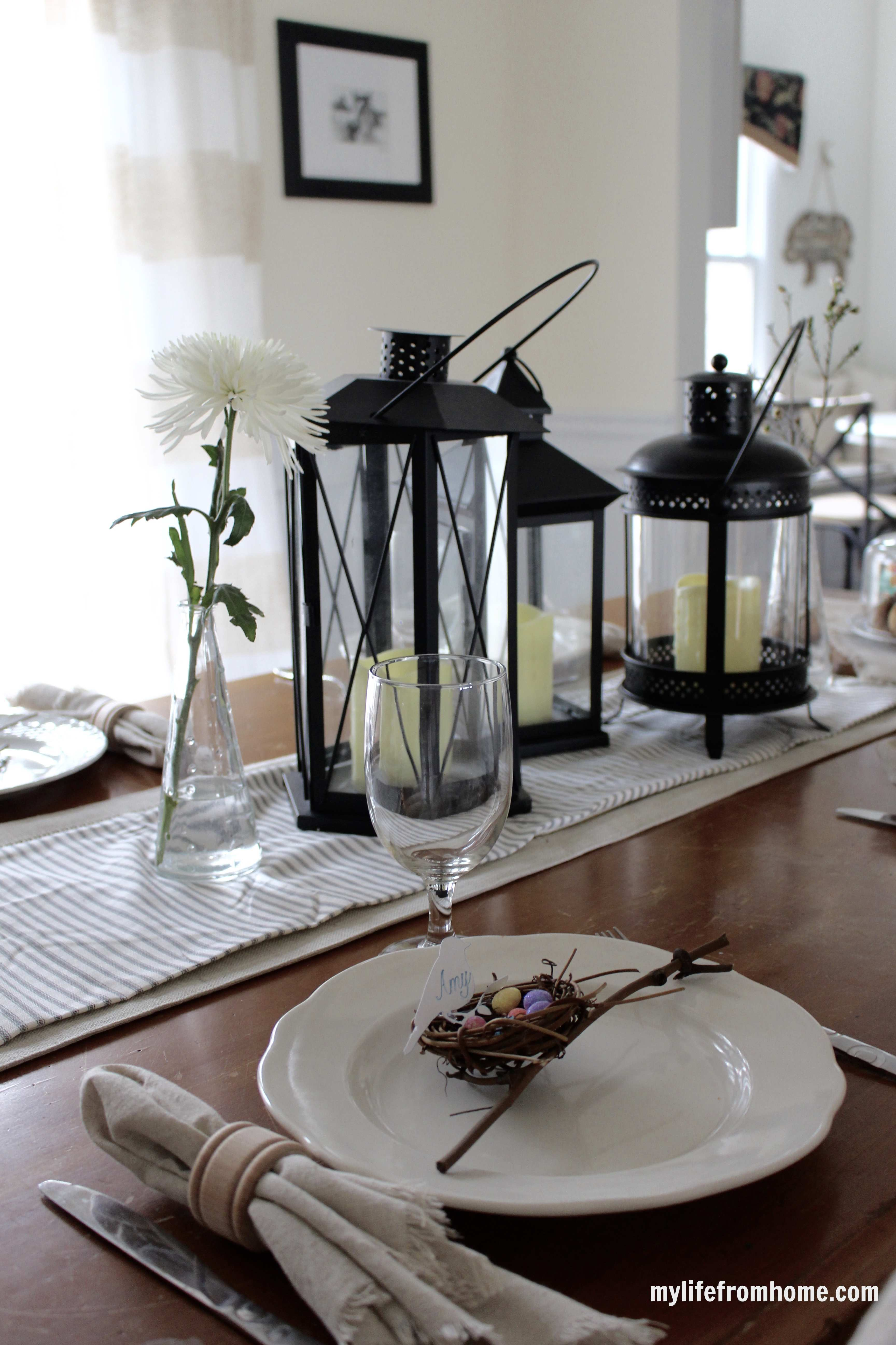 Easter Tablescape by www.mylifefromhome.com