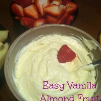 Easy Vanilla Almond Fruit Dip