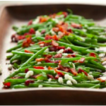 10 Minute Fancy Green Beans with Goat Cheese