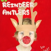 Printable Reindeer Antlers to Colour and Wear.