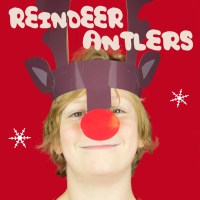 Reindeer Antlers Christmas Headband - Free Colour Printable
