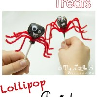 Halloween Treats - Lollipop Spiders