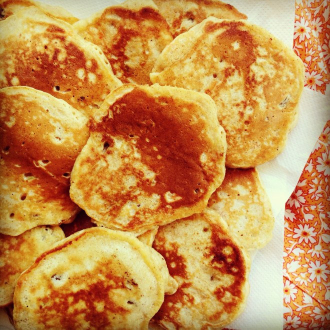 apple carrot and sultana mini pancakes