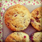 raspberry and chocolate muffins