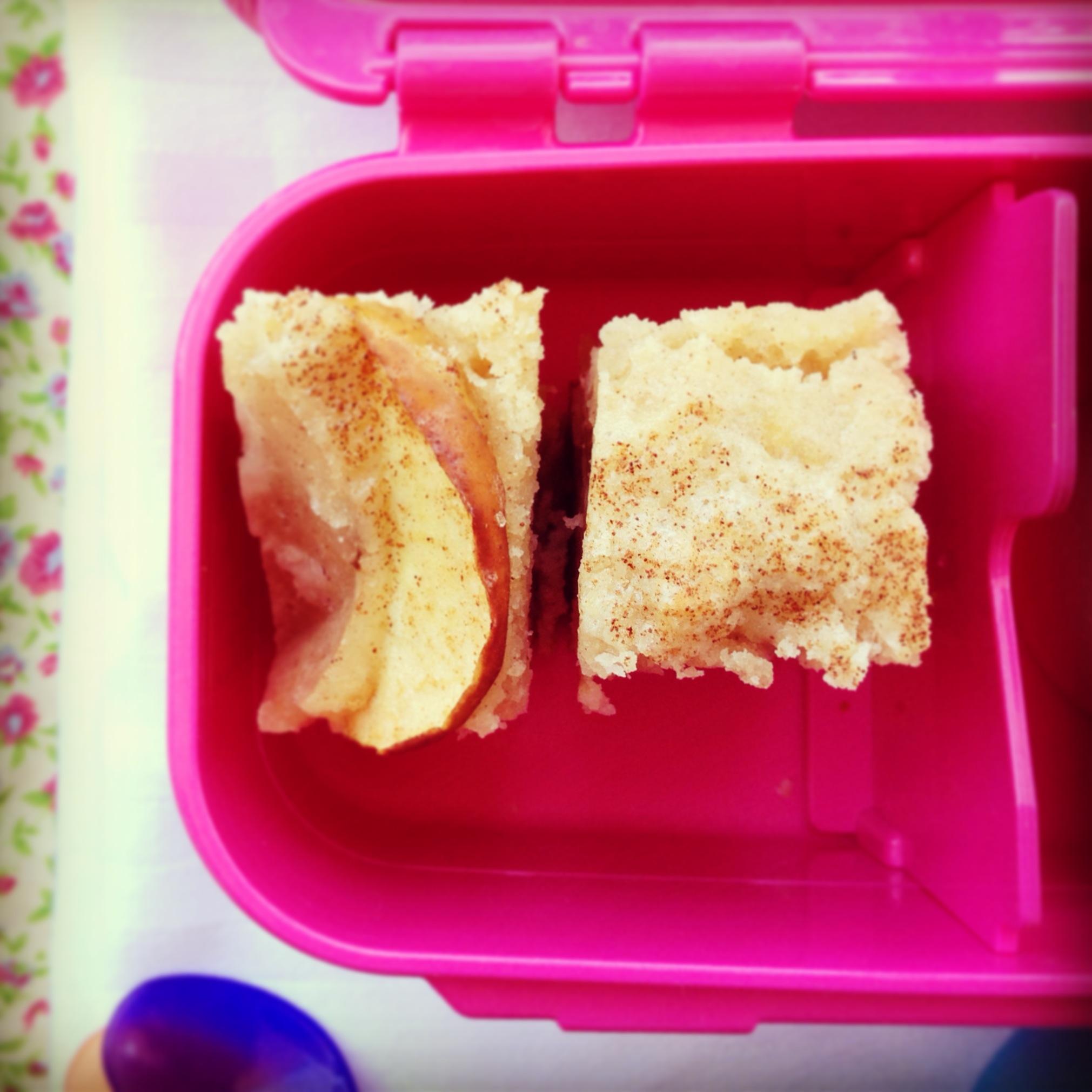 apple tea cake - my lovely little lunch box