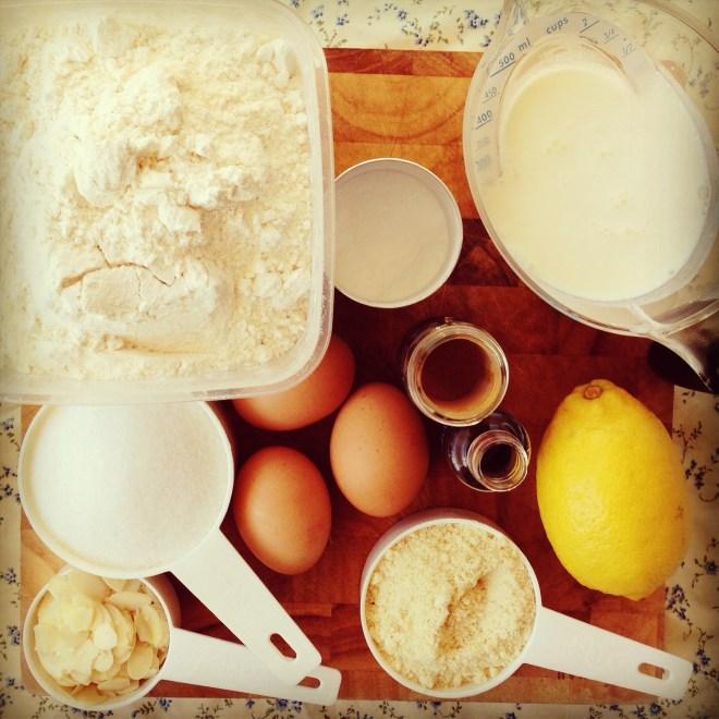 pear & almond skillet cake