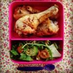 pesto pasta salad & lemon thyme & honey chicken