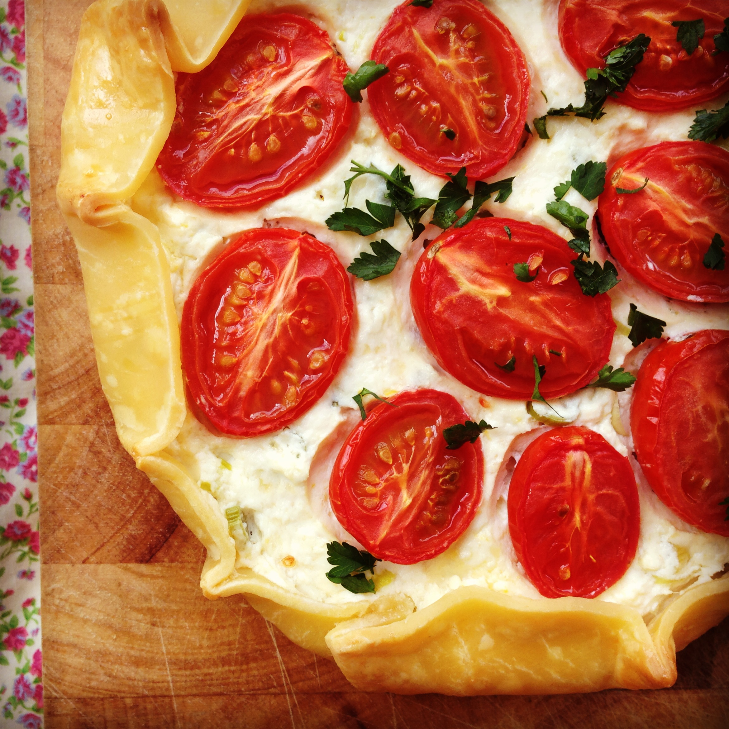 tomato ricotta tart - my lovely little lunch box
