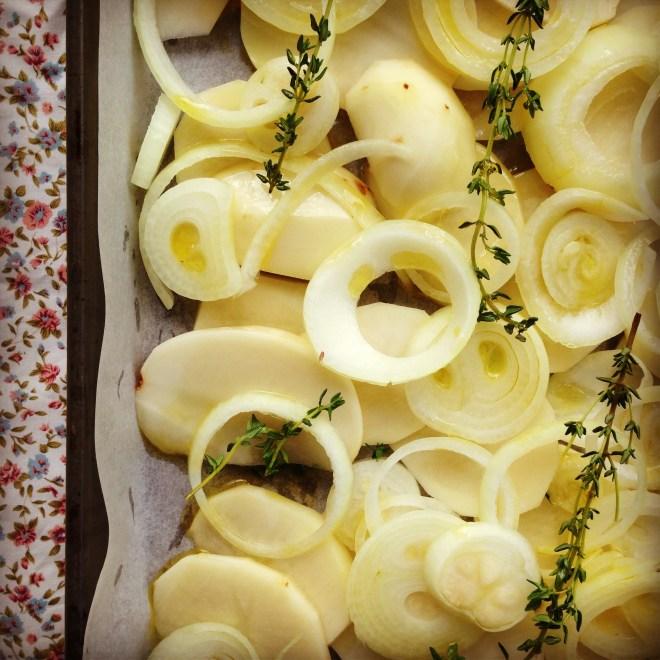 potato, onion & cheese frittata