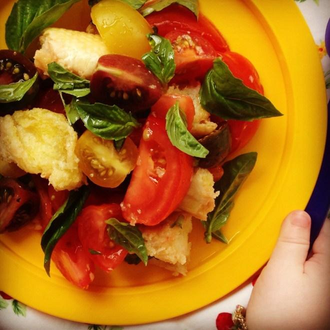italian tomato and bread salad