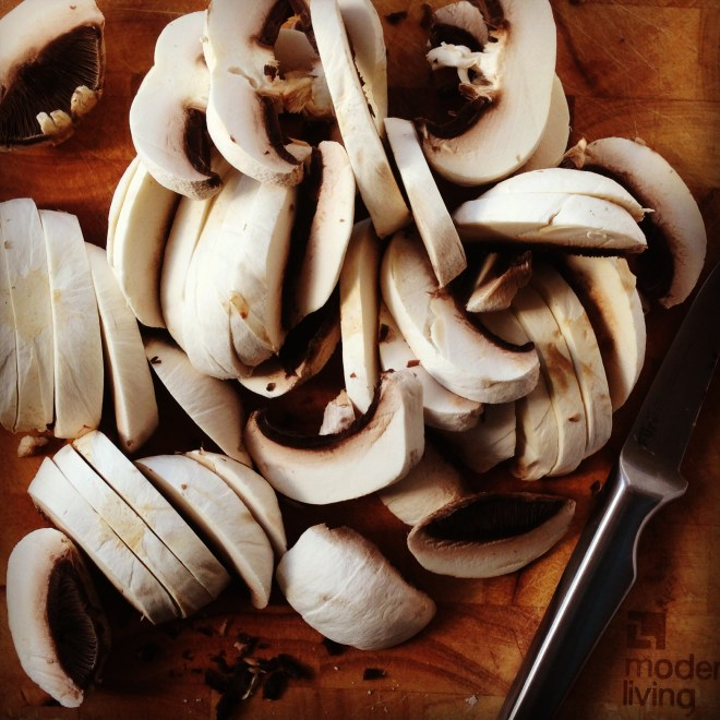 simple mushroom penne
