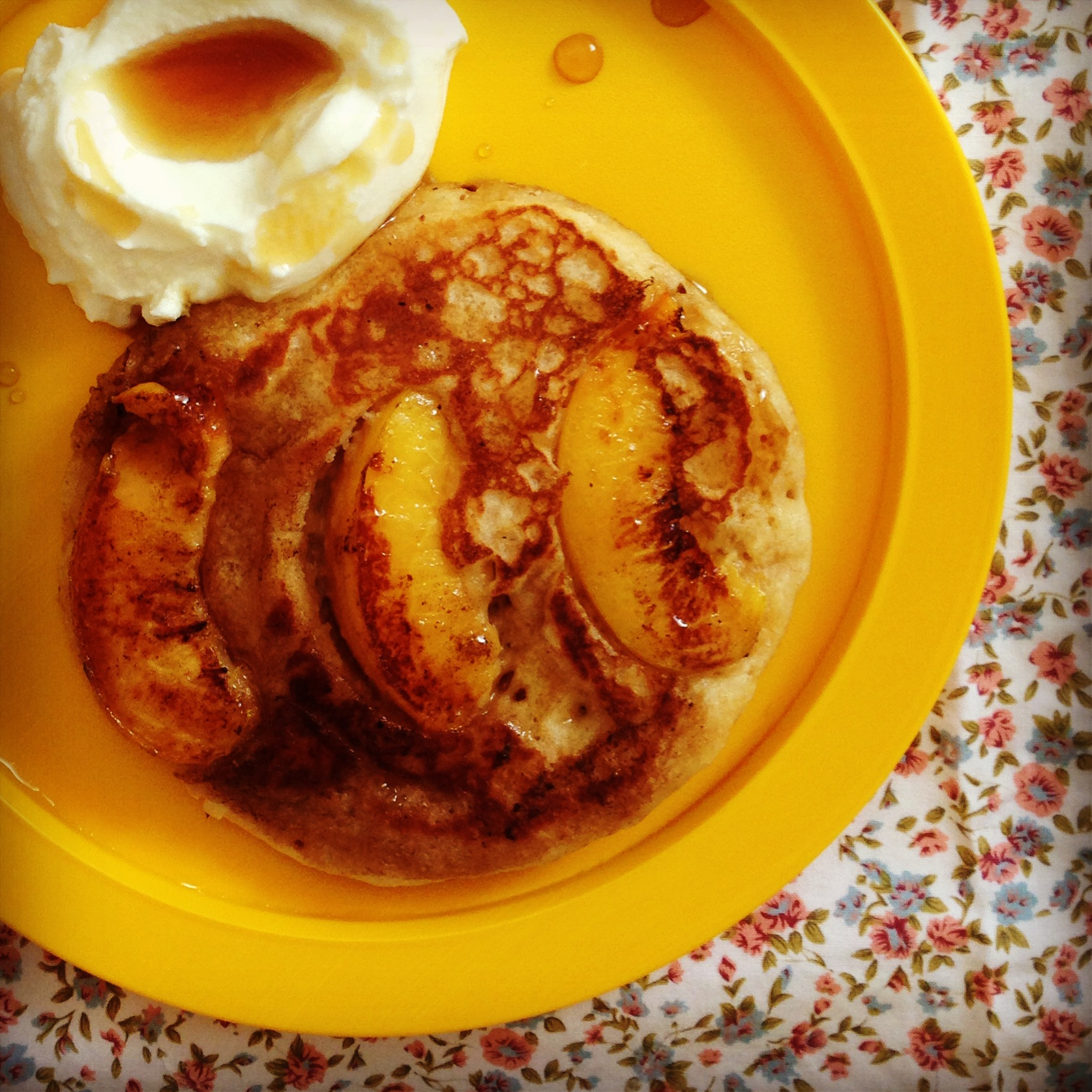 coconut peach pancakes - my lovely little lunch box