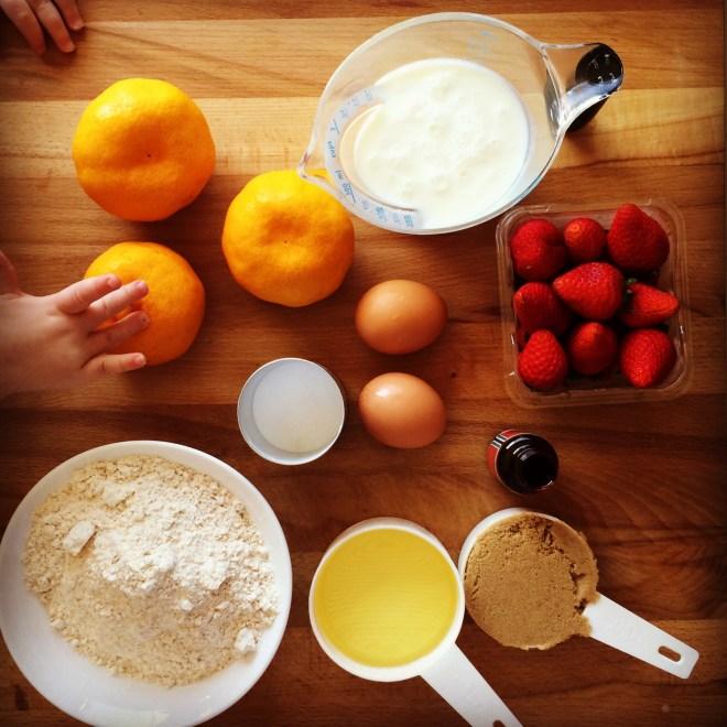 strawberry & mandarin muffins