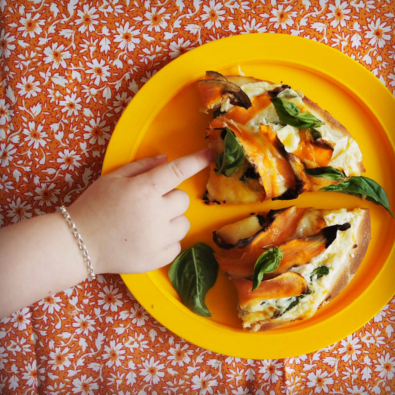 ricotta & sweet potato pizza - my lovely little lunch box