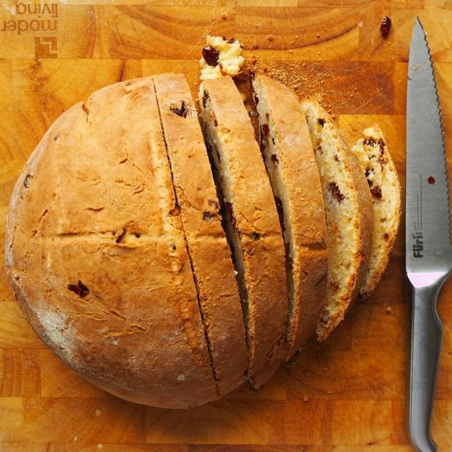 cranberry orange soda bread