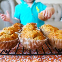 wholemeal carrot muffins