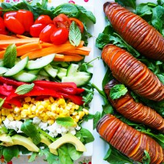 everyday salad w' hasselback sweet potato