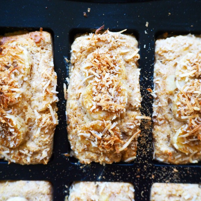 banana coconut breakfast loaves