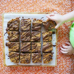 pumpkin choc oat bars