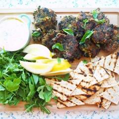 lentil fritters w' dill & lemony yoghurt