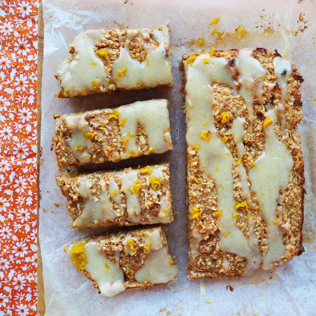 carrot cake porridge bars