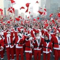 Silly Santas on Parade