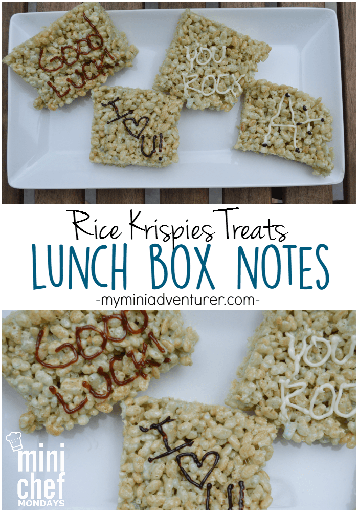 Rice Krispies Treats Lunch Box Notes