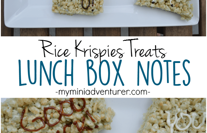 Fresh Rice Krispies Treats Lunch Box Notes