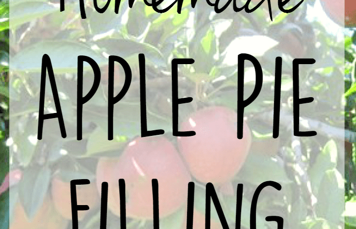Homemade Apple Pie Filling