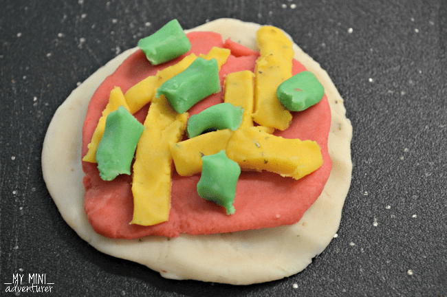Homemade Pizza Play Dough