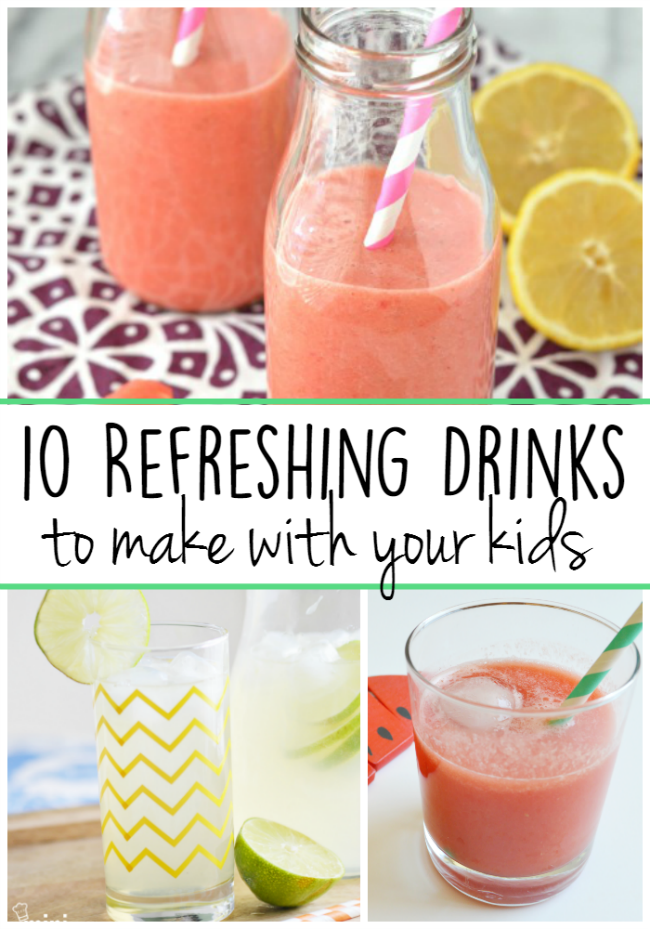 10 Refreshing Drinks to make with you kids
