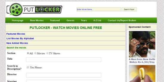 Putlocker- watch free movies online