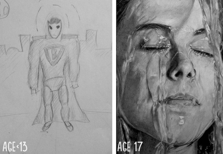 Artists Share  Before and After  Evolution of Their Drawing Skills     Artists Share    Before and After    Evolution of Their Drawing Skills with  Years of Practice