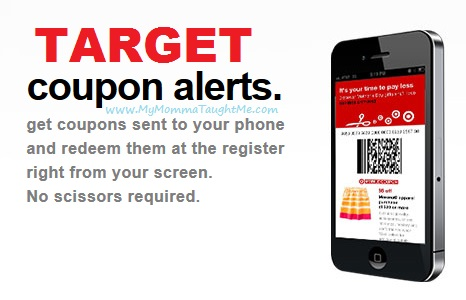 Target offers coupons via their web site, via their email promotions, via their mobile apps and the Cartwheel app, plus their weekly flyers. Many people also receive coupons in the mail, often after signing up for a wedding registry or a baby registry at Target%(K).
