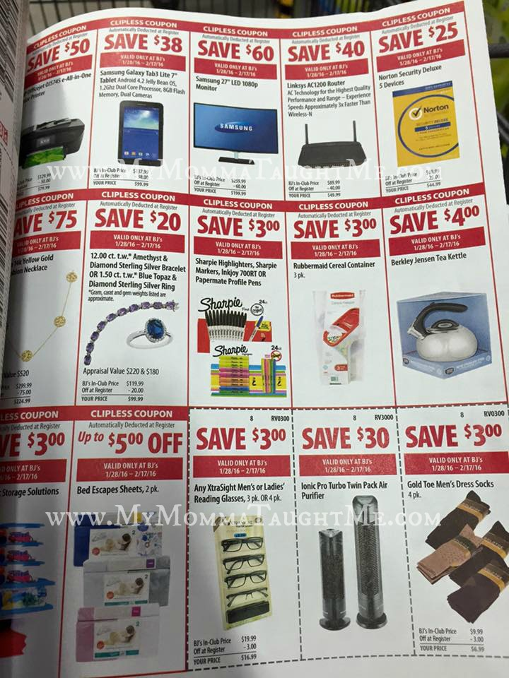 Bj's membership coupon book