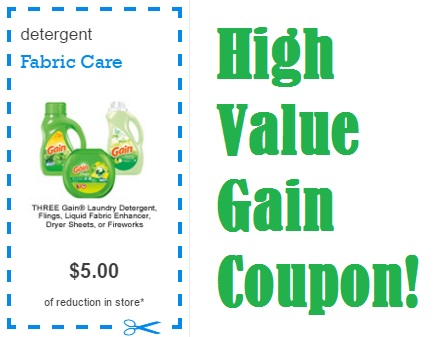 $5.00 off 3 Gain Coupon