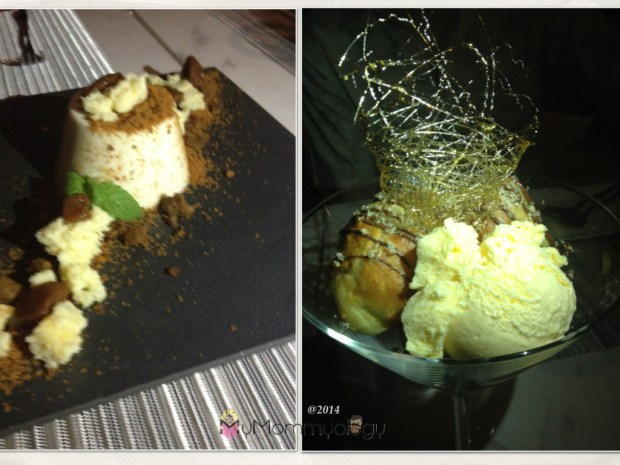 Pannacotta Cheesecake is a MUST!  The other dessert is nutella in creme puff with ice cream.  Yummm.